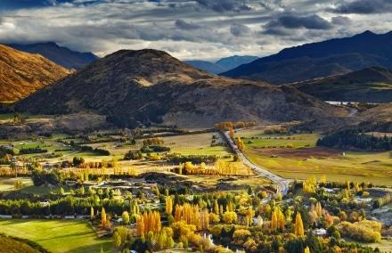 Montagne à Queenstown en Nouvelle-Zélande