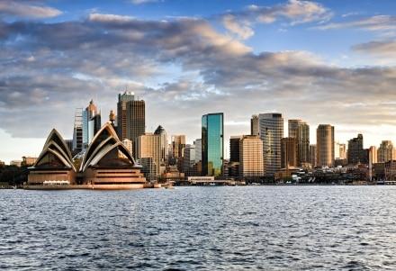 Une vue vue panoramique de Sydney