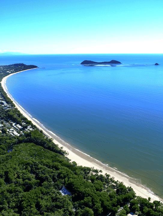 La plage de Kewarra Beach à Cairns se situe près de l'école de langue