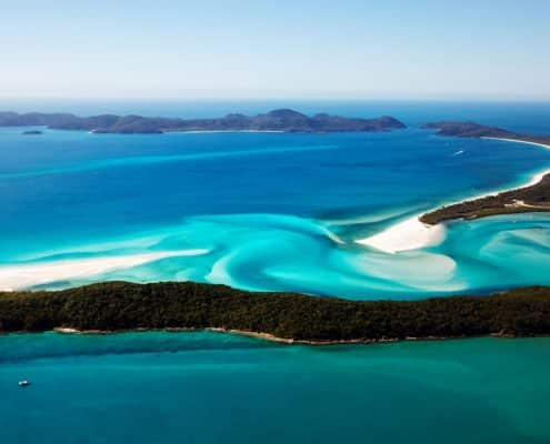 Whitsunday island se trouve non loin de Cairns
