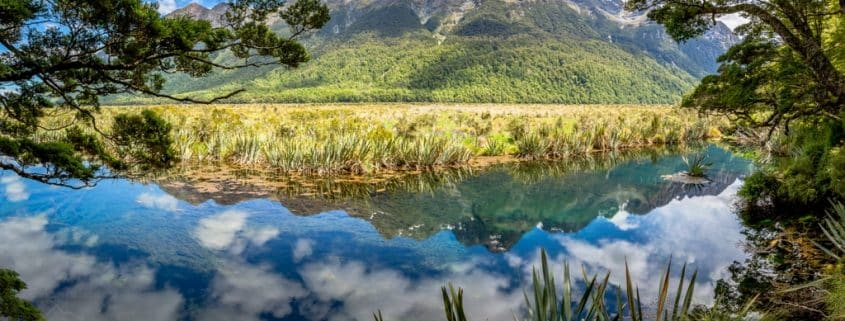 Mirror Lake sur la côte ouest de la Nouvelle Zélande