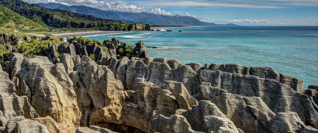Les Pancakes Rocks en Nouvelle-Zélande