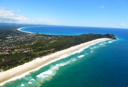 Le front de mer de Byron Bay en Australie